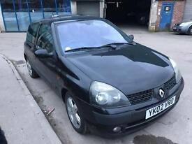 Renault Clio 1.2 16v Dynamique 3 DOOR - 2002 02-REG - 4 MONTHS MOT