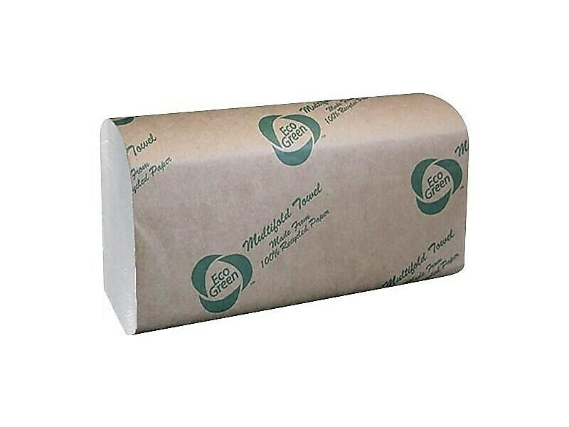Eco Green Multifold Paper Towels, 1-Ply EN416