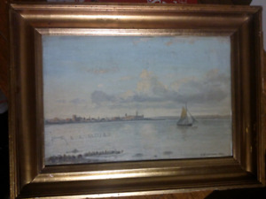 100 year old oil painting