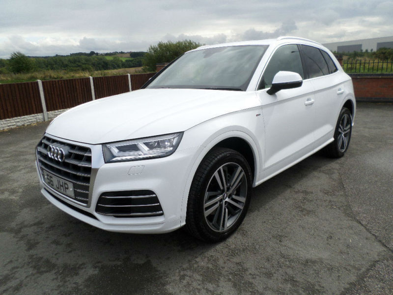 2017 67 audi q5 s line tdi quatro auto 2 0 white. Black Bedroom Furniture Sets. Home Design Ideas