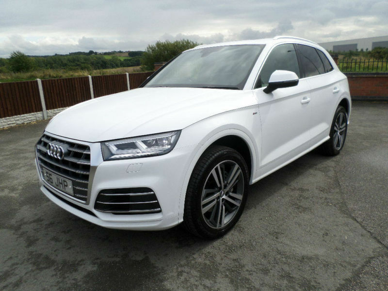 2017 67 audi q5 s line tdi quatro auto 2 0 white estate high spec euro 6 in tamworth. Black Bedroom Furniture Sets. Home Design Ideas