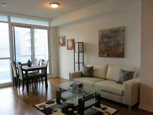 Oct 3: Furnished 1 Bed + Den Downtown @ Union St on high floor