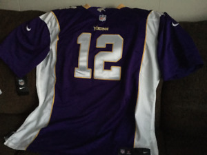 REDUCED  NEW MINNESOTA VIKING JERSEY HARVIN,,BRAND NEW , ,,,,,,