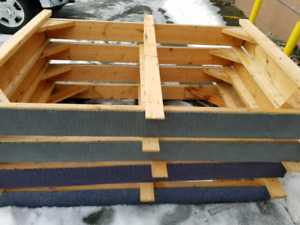 Free wood queen bed frames must be able to haul away