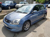 2005 05 Reg Honda Civic 1.6i VTEC ( 16in Alloys ) SE,65,000 MILES,5 DOORS,MANUAL