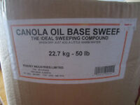Canola Oil Based Sweep for Garage Floors