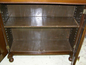 Antique Early Victorian Walnut Cupboard with Spindles & Inlays London Ontario image 2