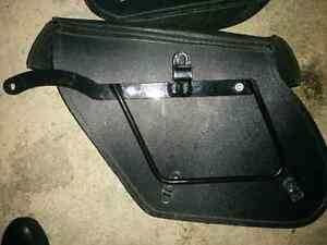 Motorcycle Leather Saddle Bags with hardware