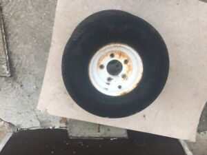 570x8 trailer wheels & tires in good cond $40.00 for pair