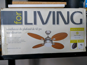 "42"" ceiling fan with remote. New in box."