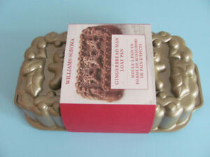 NEW WILLIAMS - SONOMA GINGERBREAD MAN LOAF CAKE PAN CHRISTMAS