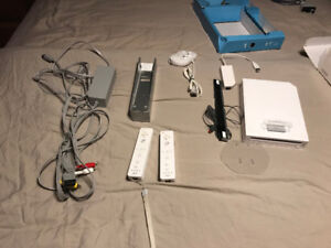 Wii with 2 wii motes and classic controller.