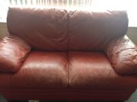 Red Leather Sofa - FREE
