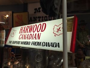 Antique Canadian whiskey lighted sign.