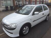 Vauxhall Corsa comfort 1.7di, 2001, white, manual, 3 door hatch, 72k s/h, 1 yrs mot,