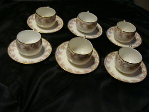 Vintage Limoge set of 6 Tea Cups and Saucers Peterborough Peterborough Area image 2