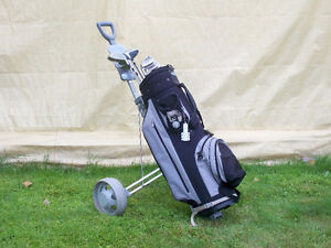 Virage Golf clubs with Golf bag and caddy