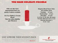 Give Someone Their Holidays Back - Donate Blood