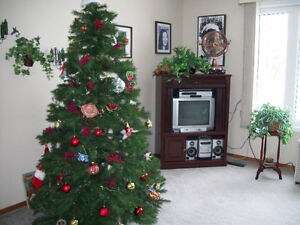 7 ft 3pc Hinged Christmas Tree easy assembly $50.Stand included