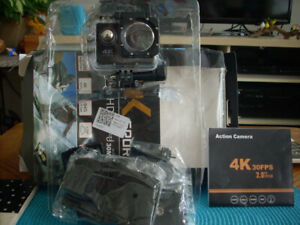 4K Sports Action Camera with SD card