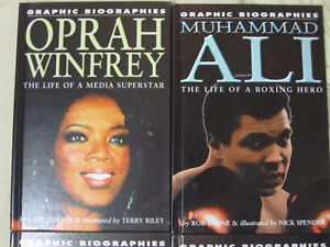 graphic biographies set of 4
