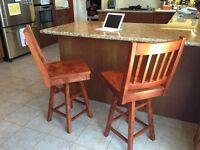 Kitchen swivel chair mission style