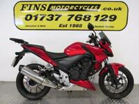 Honda CB500FA, Red, Excellent condition, Rides well, MOT, Warranty.