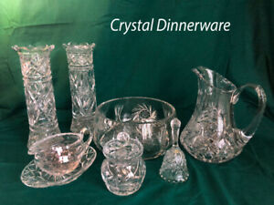 Various crystal serving-ware.