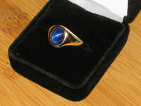 PRICE REDUCED: 10k gold sapphire ring, size 11