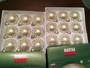 18 NEW pearl white glass balls for Christmas tree