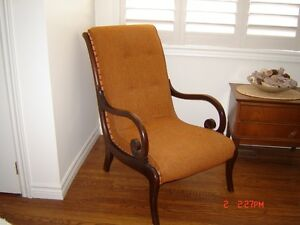 Antique high back chair London Ontario image 1