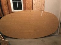 4 Office Chairs  and Oval (4' x 8') office table.