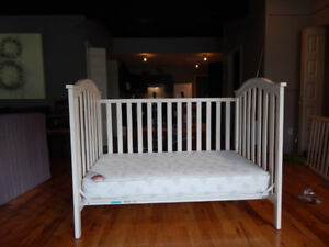 Crib (2 in 1) and Mattress