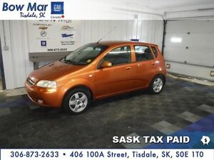 2006 Chevrolet Aveo LT *5 SPEED MANUAL*REAR SPOILER*PST PAID*