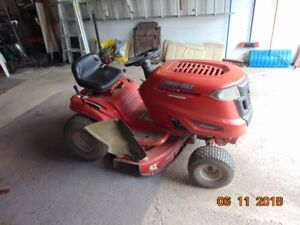 Troy Built Ride on mower nd lawn sweeper