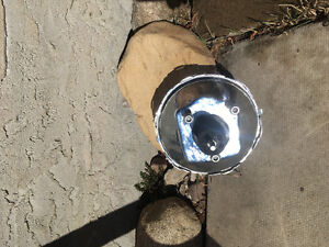"""Chrome 12"""" brake dual diaghram  booster fit chevy or ford"""
