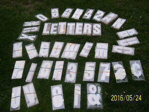 White sign Letters