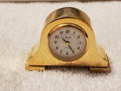 Quartz Small Desk Clock Miniature Decorative New in box B