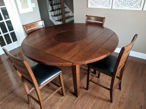 Wooden Table and 4 Chairs- must sell by Tuesday!