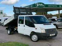 2012 Ford Transit TIPPER DOUBLE CAB 2.2 350 DRW 124 BHP TIPPER Diesel Manual
