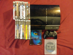 Fat ps3 bundle with 21 games and Avatar