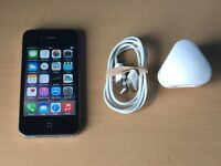 New Cond Apple Iphone 4 16gb in Black Fully Working Perfect Cond Not 4S on Vodafone / Lebara Mobile