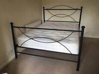 Beautiful wrought Iron Double Bed with Dreams Millbrook 1000 Pocket Spring