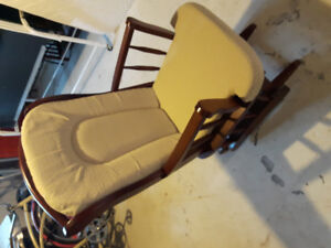 Baby change table and rocking chair and bassinet