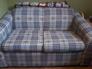 Love seat sofa bed and chair