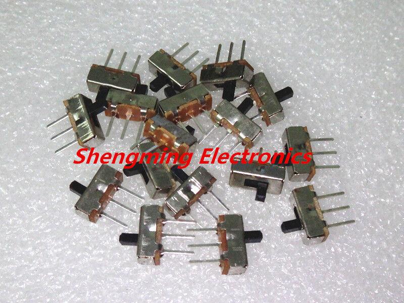 100Pcs SS12D00G3 2 Position SPDT 1P2T 3 Pin PCB Panel Mini Vertical Slide Switch