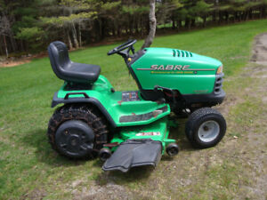 John Deere 2148 Sabre Tractor Berco Snow Blower and Mowing Deck
