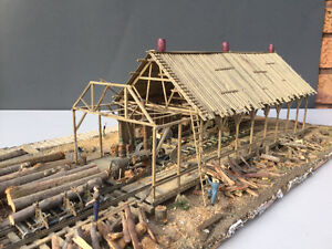 HO scale Fine Scale Minatures Saw Mill built up model train