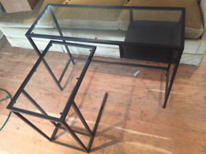Ikea Vittsjo glass and metal laptop table and stand