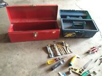 2 TOOL BOXES And Lots Of Tools  (. CALLS ONLY )